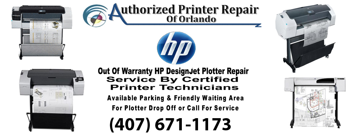 HP DesignJet Plotter Printer Repair